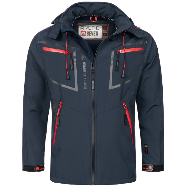 Arctic Seven Herren Designer Softshell Funktions Outdoor Jacke AS-088